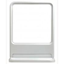 """กระจกเหลี่ยมชุด (MS-01) สีขาว """"PIXO"""" (NANO)+ชั้นวาง"""