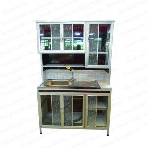 ตู้เคาน์เตอร์อลูมิเนียม 1.2 ม. A-2 สีขาว