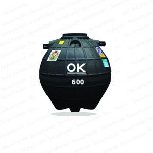 """ถังบำบัดน้ำเสีย 600 ลิตร (รุ่น OK) """"DOS"""""""