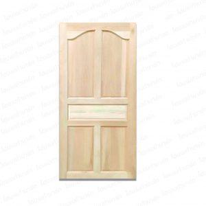 ประตูลวดลายไม้เนื้อแข็ง 90*200ซม. A.02 (ปีกนกทึบ)