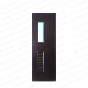 """ประตู PVC ลามิเนต 70*200ซม. #U-14 (วอลนัท) """"U-DOOR"""""""