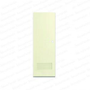 ประตูพีวีซี 80*200ซม. (B2-ครีม) เจาะ บาธติค