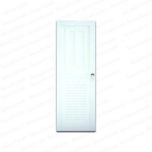 """ประตูเอบีเอส 70*200ซม. K1-ขาว (ทึบ1, เกล็ดล่าง) """"KING"""""""