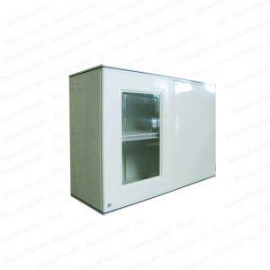 """ตู้แขวนผนังเข้ามุม (เซอร์คอน) สีขาว """"PLATINUM"""""""
