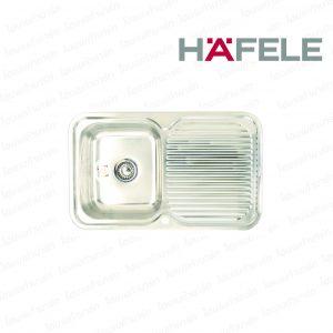 """อ่างล้างจาน 567.20.002 (1หลุม-มีที่พักจานขวา) """"HAFELE"""""""