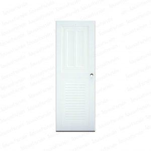 """ประตูเอบีเอส 70*200ซม. KG2-ขาว (ทึบ2, เกล็ดล่าง) """"KING"""""""