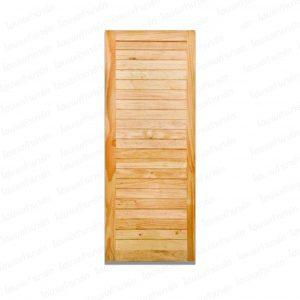 ประตูลวดลายไม้เนื้อแข็ง 80*250ซม. (ลูกฟักเรียงนอน)