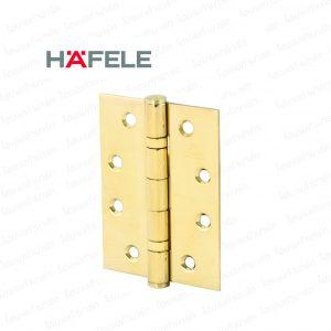 """บานพับสแตนเลสแหวนลูกปืน 4""""*3"""" 489.04.802 ทองเหลือง """"HAFELE"""""""