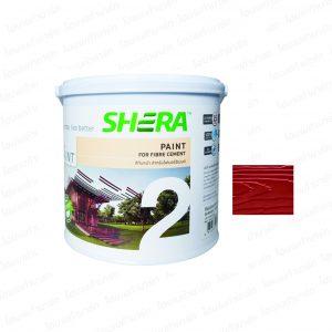 """สีทาพื้นไม้ (1กล.) #DF-1102 สีแดงเชอร์รี่ """"เฌอร่า"""" (โปร่งแสง-เงา)"""