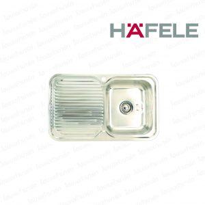 """อ่างล้างจาน 567.20.001 (1หลุม-มีที่พักจานซ้าย) """"HAFELE"""""""