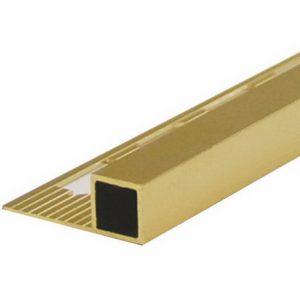 คิ้วเหลี่ยมอลูมิเนียม 12 มม. KGAT-12004 สีทอง GATOR