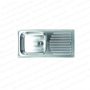 """อ่างล้างจาน #ST001 (1 หลุม+ที่พักจาน) """"PEARL"""""""