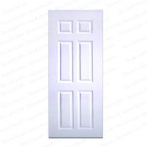 ประตู UPVC 80*200ซม. (PNR-003) สีขาว โพลีวูด