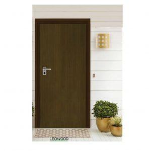 """ประตูไม้ลามิเนต iDoor 80*200ซม. สี Mahogany (Series 5) """"LeoWood"""""""